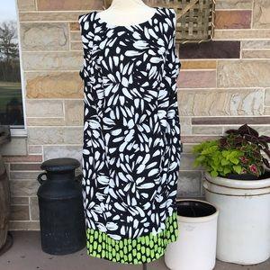 Alyx Black and White Print Shift Dress Size 14W